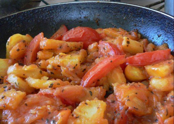 Bulvės, paruoštos ispaniškai