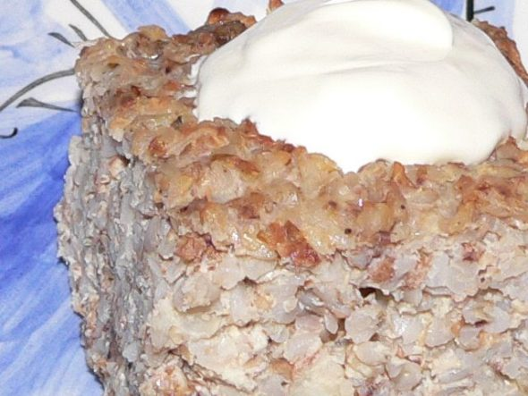 Grikių kruopų apkepas su mėsa
