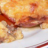Maltos mėsos ir pomidorų apkepas