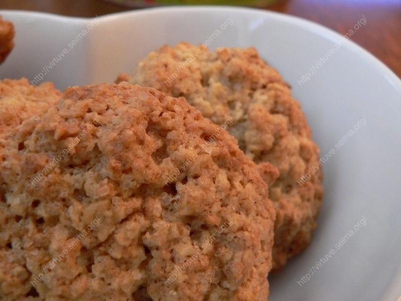Quick oat cookies