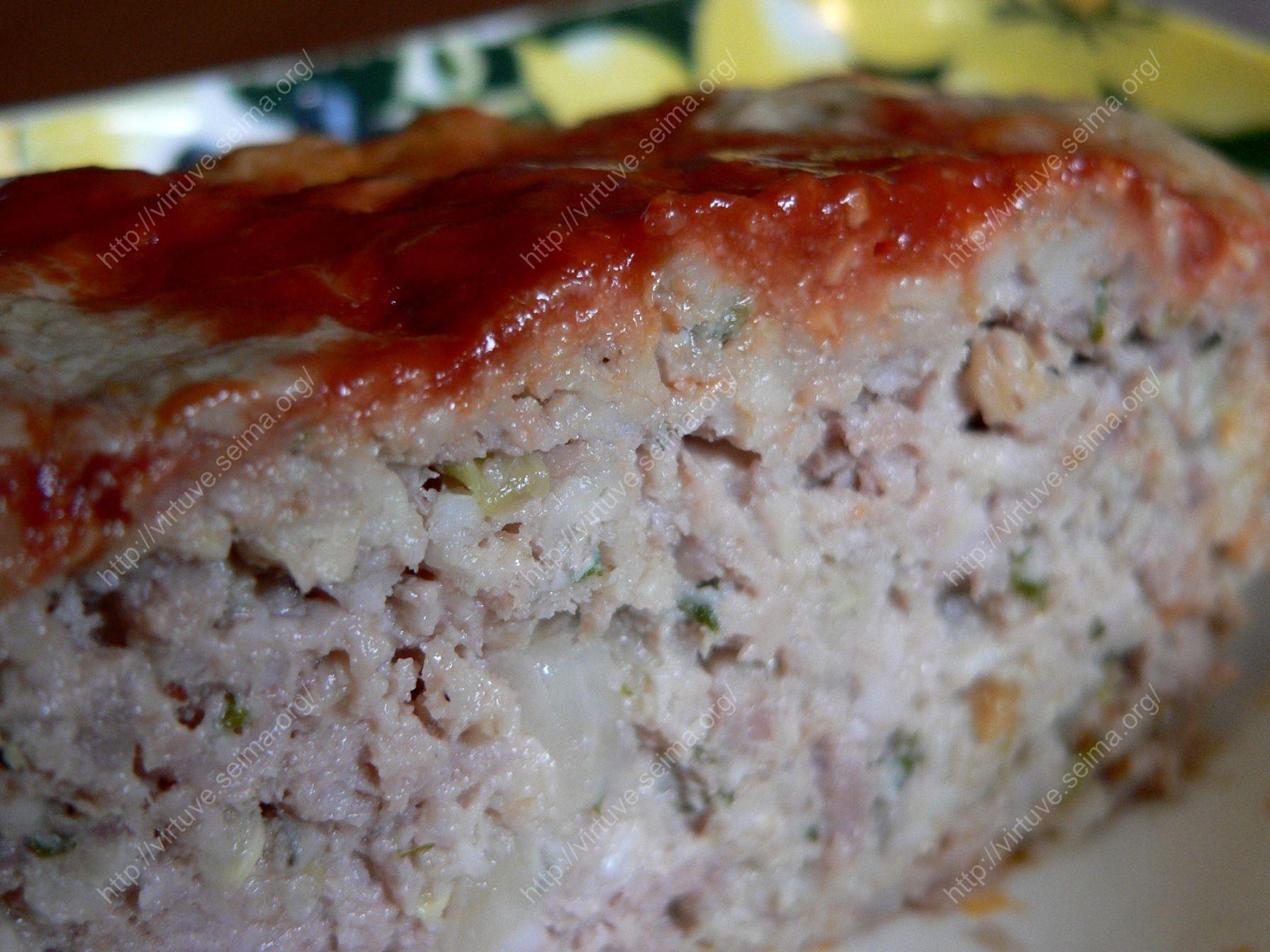 Maltos mėsos ir cukinijų kepsnys
