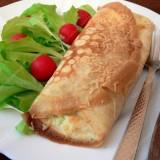 Lietiniai su brokoliais ir sūriu