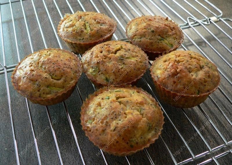 Poppy seed zucchini muffins