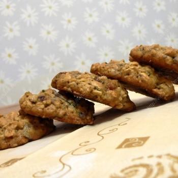 Cukinijų sausainiai su šokoladu ir džiovintomis spanguolėmis