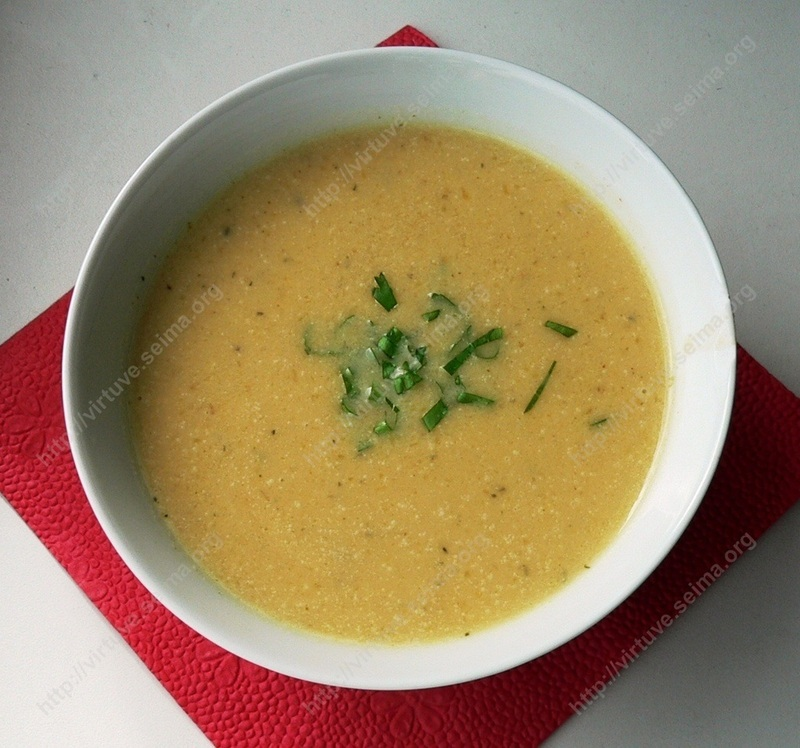 Lemon pumpkin soup