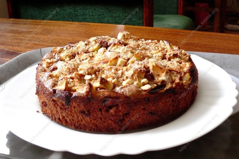 Šokoladinis pyragas su obuoliais