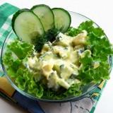Agurkų ir kiaušinių salotos
