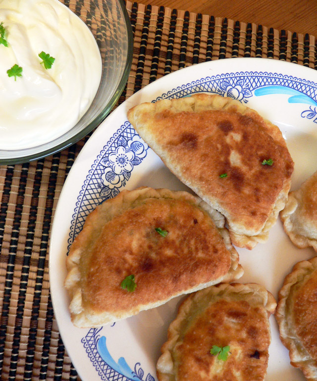 Fried hand pies with cottage cheese filling
