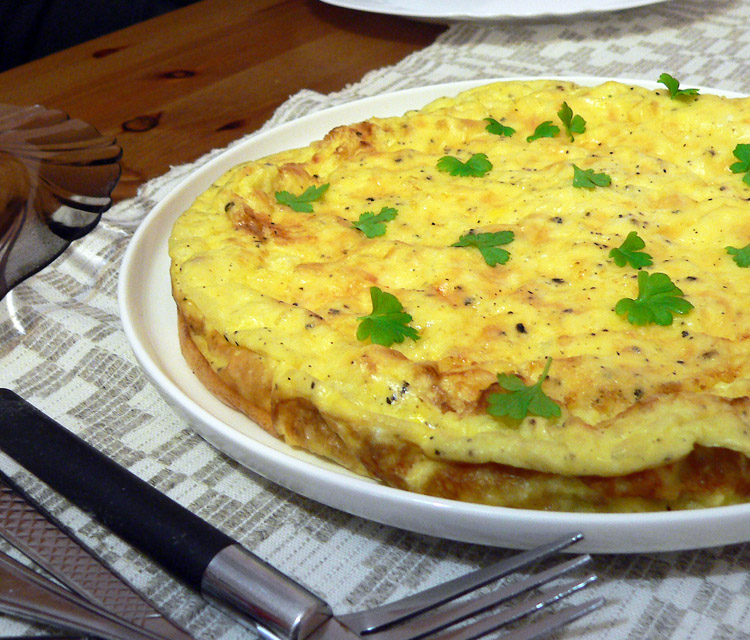 Omelette with cheese