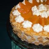 Yogurt cake with peaches