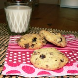 Chocolate chip cookies with nuts and apricots