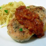 Chicken breast with homemade tomato sauce