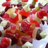Dried fruit skewers
