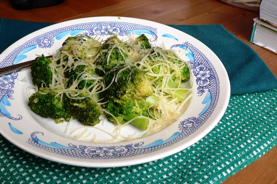 Broccoli with parmesan cheese