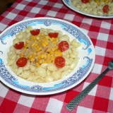 Pasta with corn