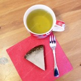 Gluten-free poppy seed cake with lemon glaze