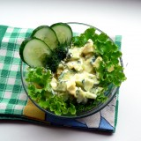 Cucumber and eggs salads