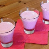 Raspberries and yoghurt smoothie