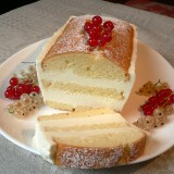 Yoghurt cake with currant cream