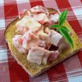Crab sticks salad with tomato
