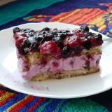 Blueberries cake with yoghurt