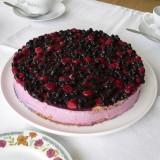 Blueberries cake with yoghurt