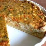 Chicken and zucchini pie