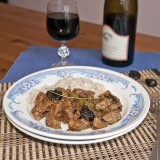 Pork stew with dried prunes