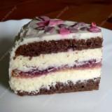 """Almond cake with mascarpone """"Hello Kitty"""""""