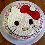 "Almond cake with mascarpone ""Hello Kitty"""