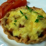 Ratatouilletarte or mini pies with vegetables