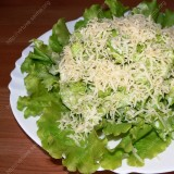 Salads with cheese and garlic