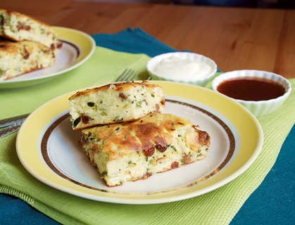 Cottage cheese and zucchini bake