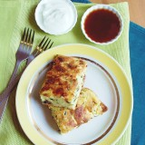 Cottage cheese and zuchhini bake