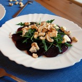 Beetroot, cashew and feta salads