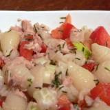 Pasta and tuna salads