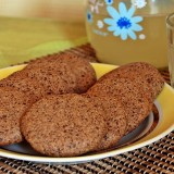 Kama flour cookies with chocolate