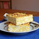Cottage cheese and boiled potato bake
