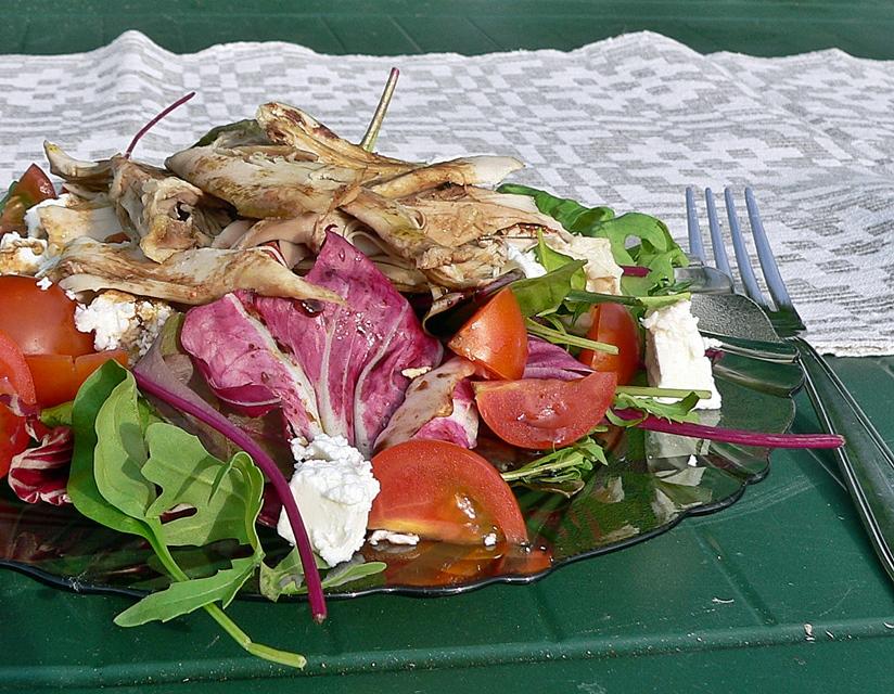 Salotos su vištiena ir feta